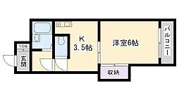 大阪府大阪市鶴見区放出東2丁目の賃貸マンションの間取り