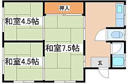兵庫県神戸市長田区高取山町1の賃貸アパートの間取り