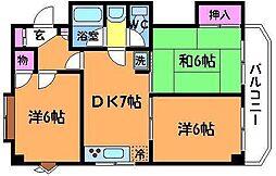 NAKAHARA VIP ROYAL[2階]の間取り