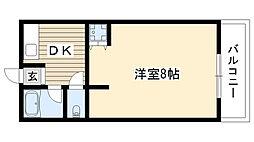 第2高重ビル[101号室]の間取り