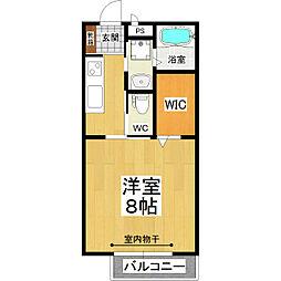 JR常磐線 土浦駅 バス15分 市民会館前下車 徒歩2分の賃貸アパート 1階1Kの間取り