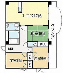サンシャイン上野[3階]の間取り