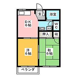モンシャトーA[2階]の間取り