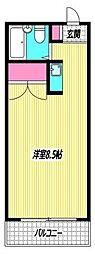 東京都中野区新井2丁目の賃貸アパートの間取り