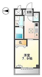 愛知県名古屋市南区加福本通3丁目の賃貸アパートの間取り