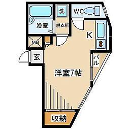 東京都府中市晴見町3丁目の賃貸マンションの間取り