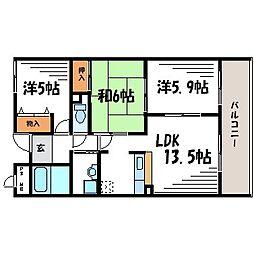 成城スクエア[2階]の間取り