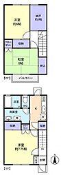[テラスハウス] 千葉県八千代市高津東4丁目 の賃貸【/】の間取り