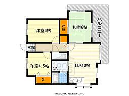 桃山台パレス・モミの木 2階3LDKの間取り