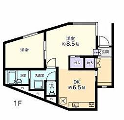 神奈川県横浜市南区永田東2丁目の賃貸マンションの間取り