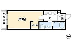 仮)小山新築マンション 3階1Kの間取り
