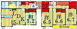[一戸建] 東京都足立区伊興4丁目 の賃貸【/】の間取り