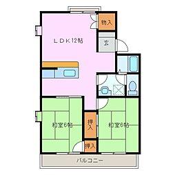 ボナールハウス A棟[1階]の間取り