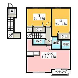 飛鶴A[2階]の間取り
