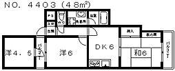 ケーズコート真法院[2階]の間取り