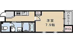 Osaka Metro谷町線 阿倍野駅 徒歩12分の賃貸マンション 1階1Kの間取り