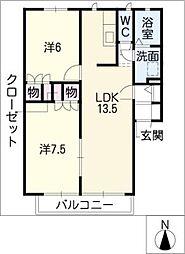 STABLE竹の山[1階]の間取り