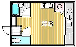 ネオセレス五番館[2階]の間取り