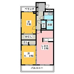 こまハイツ[3階]の間取り