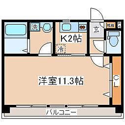 兵庫県神戸市中央区山本通5丁目の賃貸マンションの間取り
