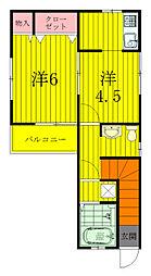 永楽台サンハイツ[2階]の間取り
