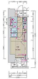 名古屋市営鶴舞線 丸の内駅 徒歩7分の賃貸マンション 13階1Kの間取り