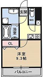 仮称 深草マンション[105号室号室]の間取り