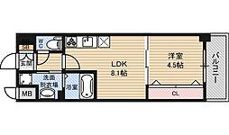 コンフォリア新大阪[8階]の間取り