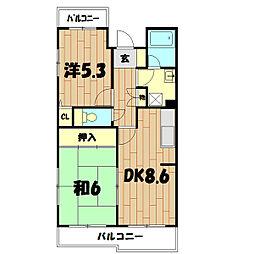 二俣川ハイツ[103号室]の間取り