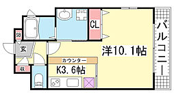メゾンエフKAMISAWA[701号室]の間取り