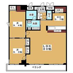 レジディア東桜II[12階]の間取り