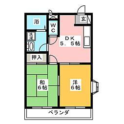 ドミールKOZAKI[3階]の間取り
