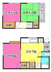 [一戸建] 埼玉県所沢市大字北秋津 の賃貸【/】の間取り