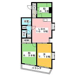 シオノビル[3階]の間取り