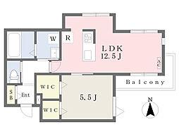 仮)長尾2丁目計画 4階1LDKの間取り