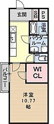 プラネシア星の子山科駅前[515号室号室]の間取り