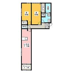 フレンズ6[1階]の間取り