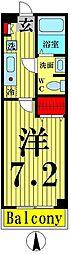 東京都足立区竹ノ塚6丁目の賃貸マンションの間取り