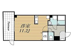 JR総武線 千葉駅 徒歩15分の賃貸マンション 1階ワンルームの間取り
