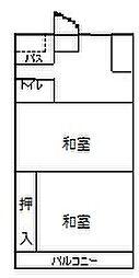 愛知県名古屋市熱田区旗屋2丁目の賃貸マンションの間取り