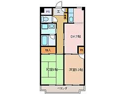 ロイヤルマンションHAMADA[2階]の間取り