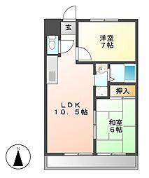 ハウス大屋敷[1階]の間取り