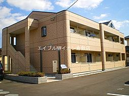 岡山県倉敷市西阿知町西原丁目なしの賃貸アパートの外観
