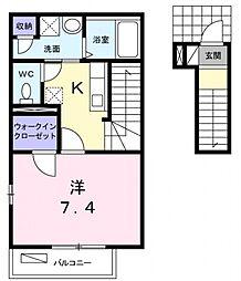 ル プレジール[2階]の間取り