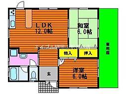 [一戸建] 岡山県岡山市北区平田丁目なし の賃貸【/】の間取り