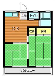 サンライズM[2階]の間取り
