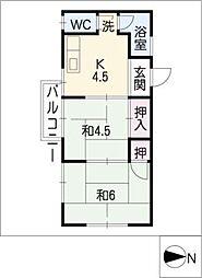 ホワイトハウス[1階]の間取り