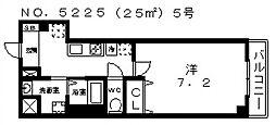 ルミエール駒川[2階]の間取り