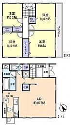 [一戸建] 千葉県船橋市田喜野井5丁目 の賃貸【/】の間取り