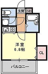 聖護院谷口マンション[207号室号室]の間取り